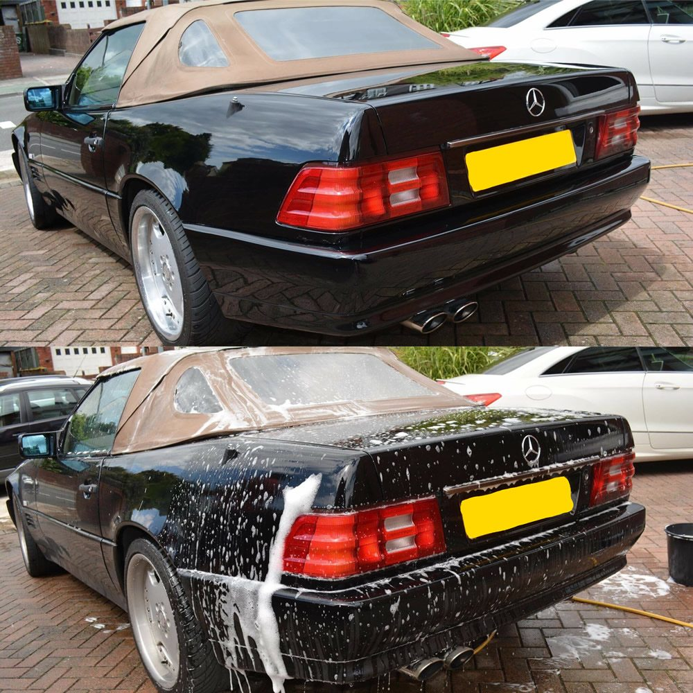 best method to wash your own car