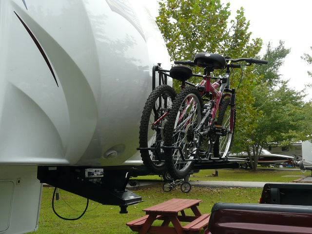 fifth wheel bike rack