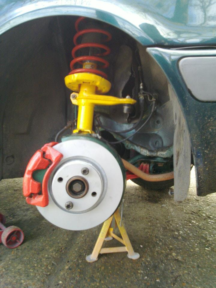 making car lower on coilovers