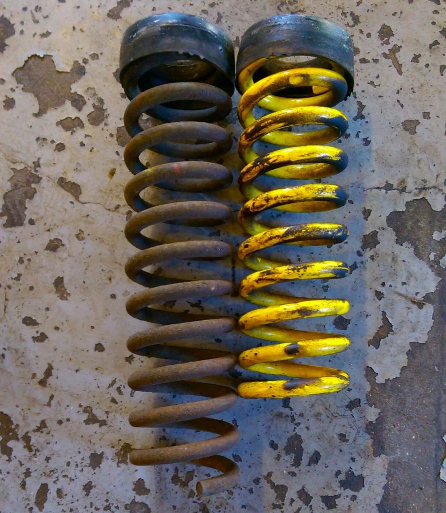 lower spring length compared with oem