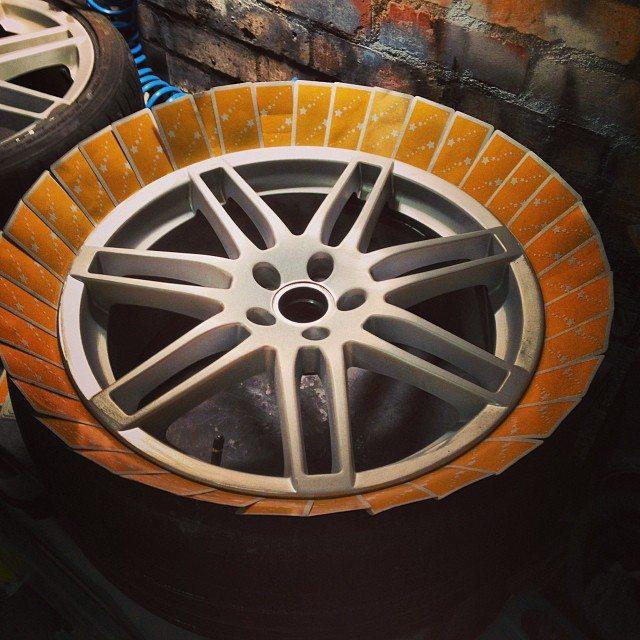 tires masked up for preparation