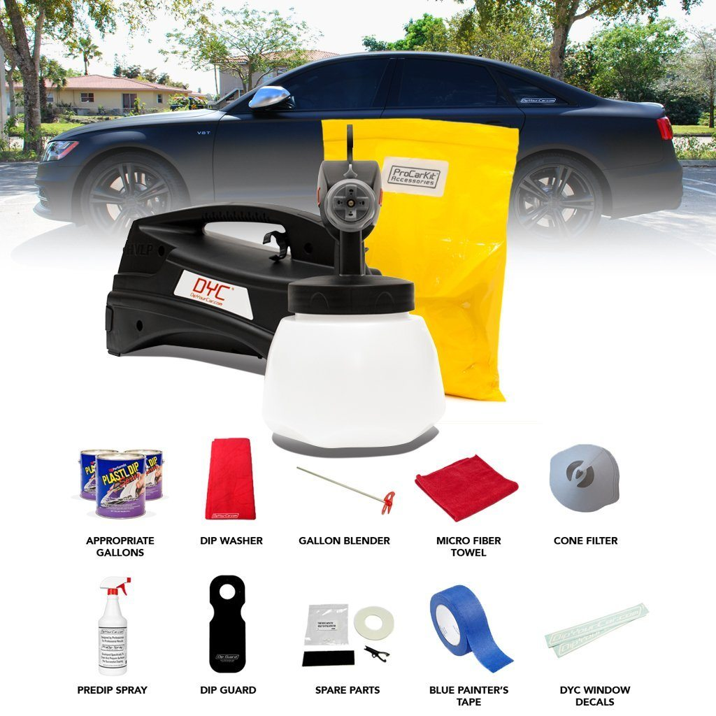 professional spray plasti dip kit for your car