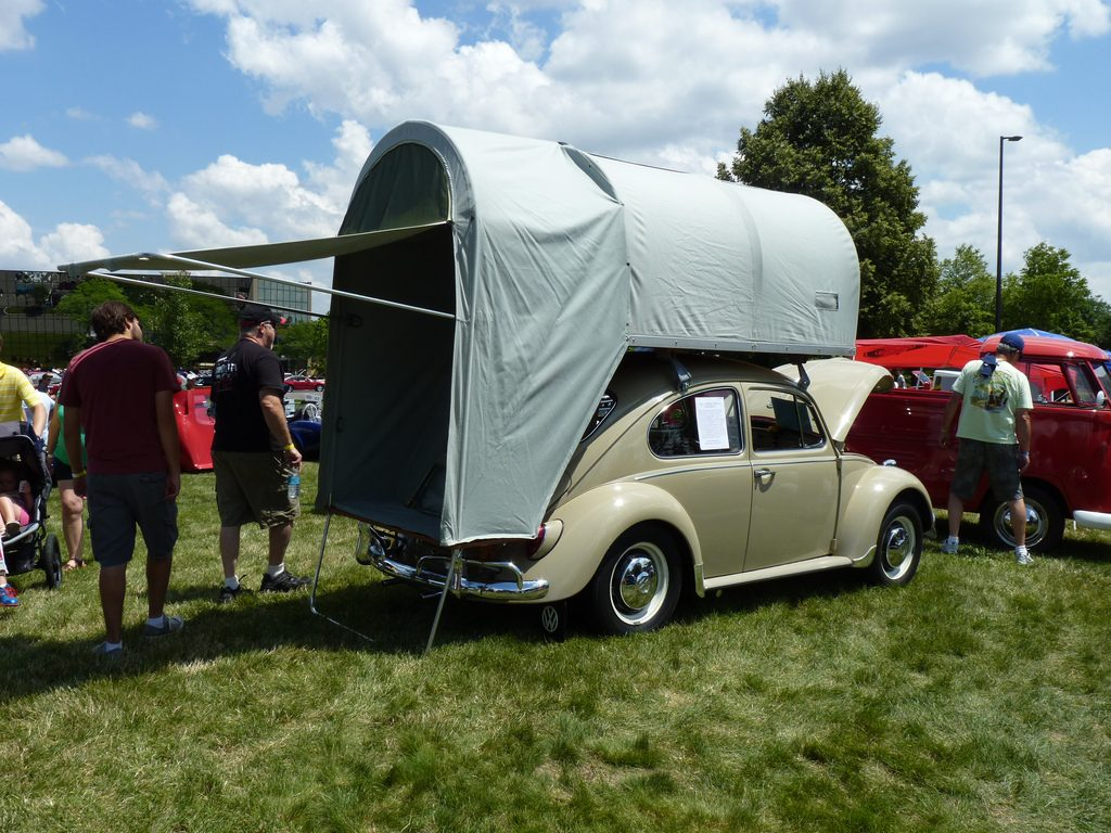 small car roof top tent