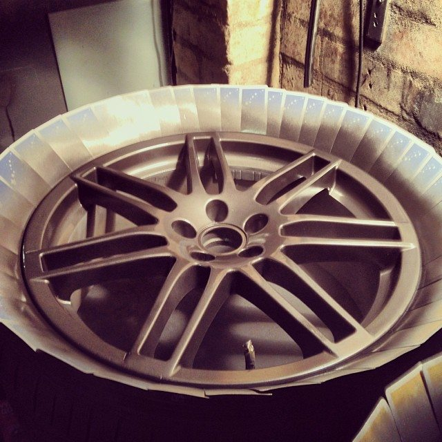 painting alloy wheels with rattle can