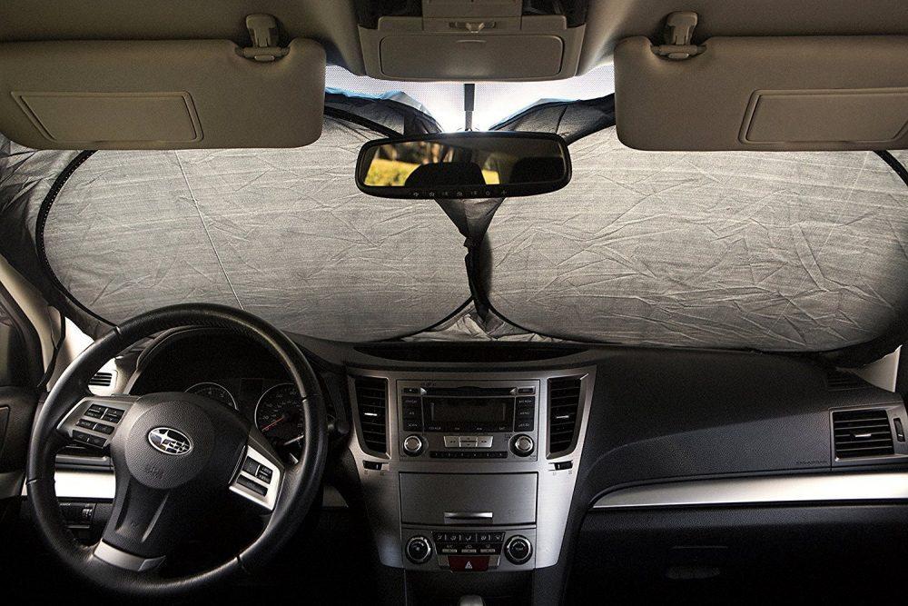 car windshield sun shade