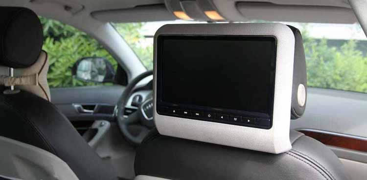 best car dvd player headrest